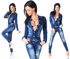 Sexy New Women's Denim Jeans Wash Playsuit Jumpsuit Overall Skinny Slim A 591