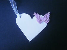 50 Wishing tree tags with 3D butterfly - ideal for wedding/celebrations