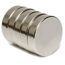 Set Of 1 to 20 Pieces 20mm x 5mm Round Rare Earth Neodymium Strong Magnet N52