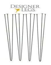 "Hairpin Table Legs  4"" - 34""  Designer Vintage 10&12mm (PRICE PER LEG) No1 in UK"