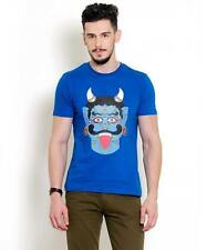 Yepme Men's Graphic Tees in Royal Blue Colour SKU ID YPMTEES0243