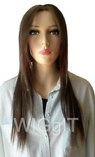 PIZZAZ & DIVA |  ASH BLONDE | LONG HUMAN HAIR | STRAIGHT LACE FRONT WIG  | SLEEK