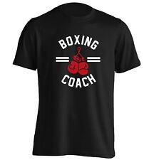 1075 boxing coach Tshirt workout fitness boxer gloves hook jab punch bag gift