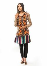 Womens Autumn Blossom Indian Embroidered Winter Wool Shawl Trench Coat Jacket