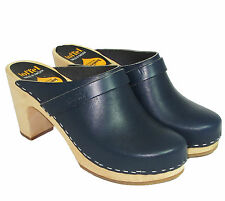 Swedish Hasbeens Slip In Clog (Navy)