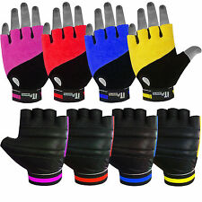 Leather Cycling Gloves Fingerless Towel Fist Cycle Mitts Mittens Bicycle Gloves
