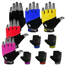 Leather Cycling Gloves Fingerless Cycle Mitts / Mittens Gloves Fist Towel