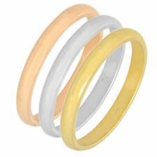Ring Band Gold 375 Gelbgold Weißgold Rotgold 9K Damen Goldring Fingerkuppen