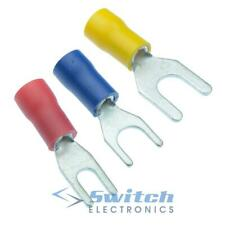 Red/Blue/Yellow Insulated Crimp Fork Terminal Connector