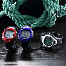 Pulse Heart Rate Monitor Wrist Watch Calories Counter Alarm Sports Fitness S0EO