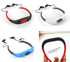 8GB Impermeable MP3 Player Reproductor FM Radio Natación Surf Buceo Auriculares