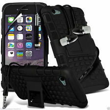 Shockproof Dual Layer Heavy Duty Case Cover+In Ear Stereo Headset for Apple