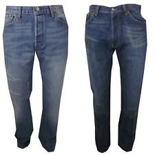 Jeans Levis 501 Red Tab Button Fly Taglia W 28 29 30 31 32 33 34 36 38