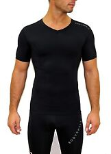 Bodyshell Men's Black Short Sleeve Tight Compression Wear Top