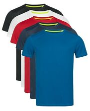 Active-Dry Hombre Hombre Liso Transpirable Poliéster Deporte Deportivo Camiseta