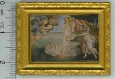 Dollhouse Miniature Gold Framed Print of