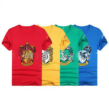 Harry Potter HOGWARTS School cotton T Shirt Gryffindor Slytherin Ravenclaw gift