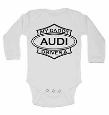 Long Sleeve Cotton Baby Vests for Boys Girls My Mummy Drives A Volkswagen