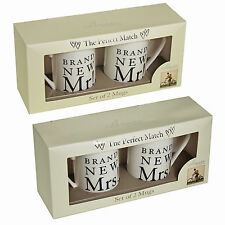 "Amore "" Wedding Day"" Brand New Mr & Mr OR Mrs & Mrs Mug Cup Gift Set"