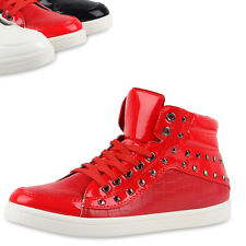 Herren Sneakers High Top Lack Turnschuhe Nieten Modisch 79523 Top