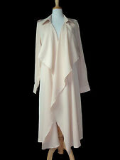 Trench long fluide, couleur nude. Grande taille