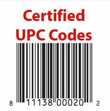 UPC Code, UPC EAN codes EAN/UPC codes for Marketplaces like Ebay 10 - 10 000