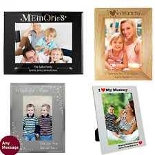 PERSONALISED Engraved Mum Photo Frame Birthday Mothers Day Gift Idea For Mum
