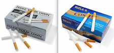 Make your Own & Rizla Concept Cigarette Filter Tubes King Size MULTIPLE VARIATI