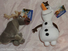 "Disney Frozen soft plush toy 9"" Olaf 8"" Sven  20/23 cm  NEW UK Seller"