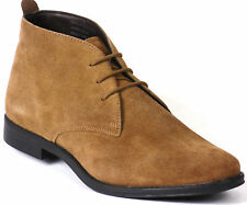 Redfoot Mens New Suede Leather Desert Ankle Boots Lace Up Boxed Navy, Tan, Black