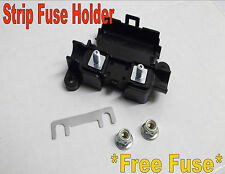 strip fuse holder with free fuse car van lip suits 30amp - 100amp