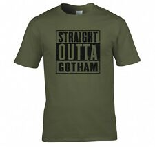 "BATMAN ""STRAIGHT OUTTA GOTHAM"" T SHIRT NEU"