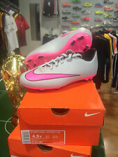 NIKE ZAPATOS SHOES FÚTBOL MERCURIAL V VICTORY FG WOLF GRIS PINK ROSA JUNIOR KIDS