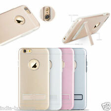 Gimmick Metal TPU Back Ultra-thin KickStand Case Cover For iPhone 6 6S