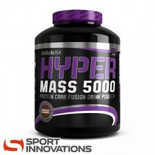 (8,98€/1kg) BioTech USA Hyper Mass 5000 Vanille Weight Gainer Eiweiß 5000g