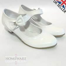 GIRLS SHOES FIRST HOLY COMMUNION, BRIDESMAID SHOES, WEDDINGS, WHITE PATENT SHOES