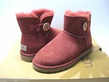 UGG MINI BAILEY BUTTON WOMEN BOOTS SUEDE REDWOOD US 7 /UK 5.5 /EU 38 /JP 24