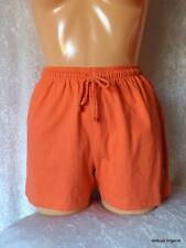 LADIES ORANGE OR YELLOW COTTON BOARD SHORTS SURF BEACHWEAR HOLIDAYS SWIM BNWT
