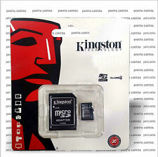 SCHEDA MEMORIA MINI MICRO SD HC KINGSTON PER BRONDI LUXURY 4