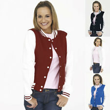 Liquidazione magazzino UC526 Giacca College Donna Girlie,Varsity giacca,Baseball