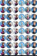 48 x DISNEY FROZEN EDIBLE ICING & RICE/ WAFER PAPER CUP CAKE TOPPERS