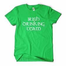 Irish Drinking Team Printed T-Shirt St Patricks Day Paddys Day Beer Funny New