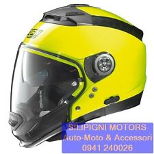 NOLAN N44 EVO Hi-VISIBILITY N-Com 12 Fluo Yellow Casco Crossover Integrale Jet