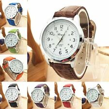 Uomo Orologio Mens Analogico Quarzo Sports Leather Strap Orologio da polso Watch
