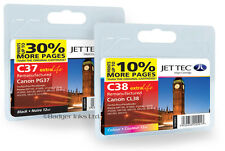 PG-37 / CL-38 Black & Colour Remanufactured Printer Ink Cartridges