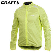 CRAFT - Herren FEATHERLIGHT Performance Jacke - Fahrradjacke MTB Rennrad NEON