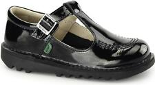 Kickers KICK T Infant Boys & Girls Patent Leather Buckle School Shoes Black