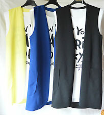 Maglia Donna Blusa Gilet Maglietta Lunga T-shirt Tops Maglie Made in Italy