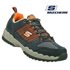 Skechers Shoes Men Memory Foam 51381 Charcoal Orange