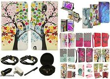 Wallet Case PU Leather Flip Stand Pouch Cover for Kyocera phone + BUNDLE
